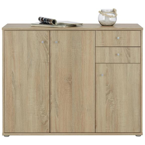 Sideboard Sonoma Eiche Alufarben Grau Modern Holzwerkstoff Kunststoff 106