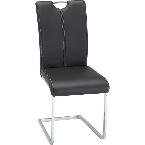 Nihajni Stol Alex - črna/bela, Moderno, kovina/tekstil (43/100/59cm) - Mömax modern living