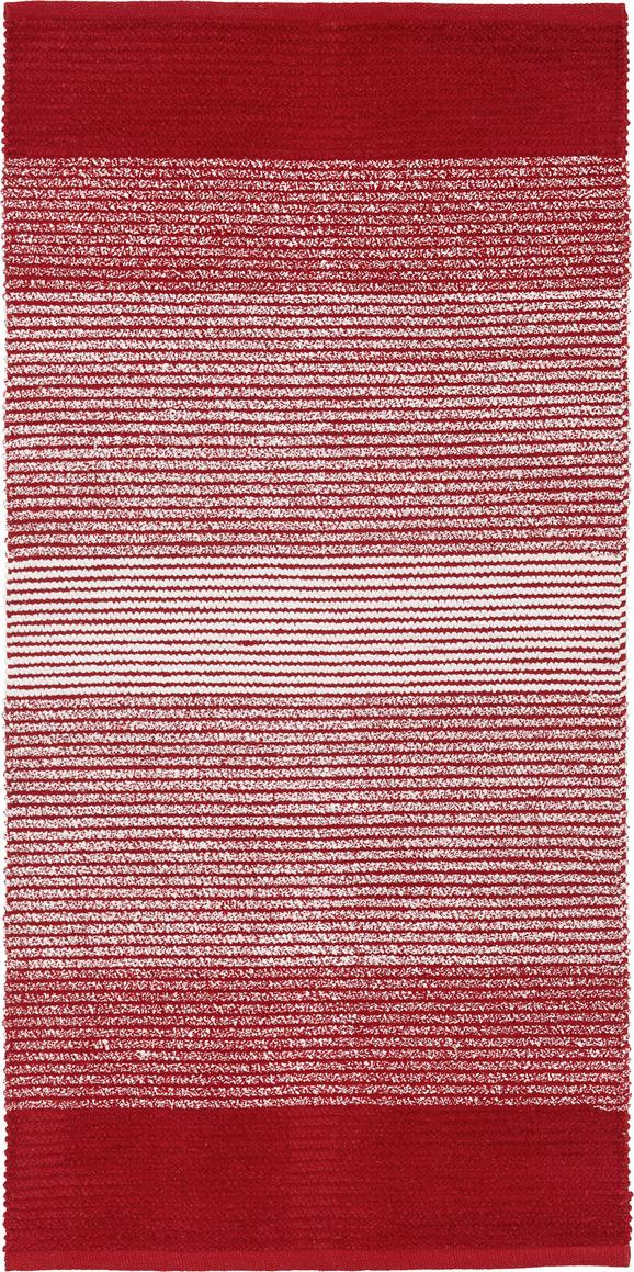 Fleckerlteppich Malto 70x140cm in Dunkelrot - Dunkelrot, MODERN, Textil (70/140cm) - MÖMAX modern living
