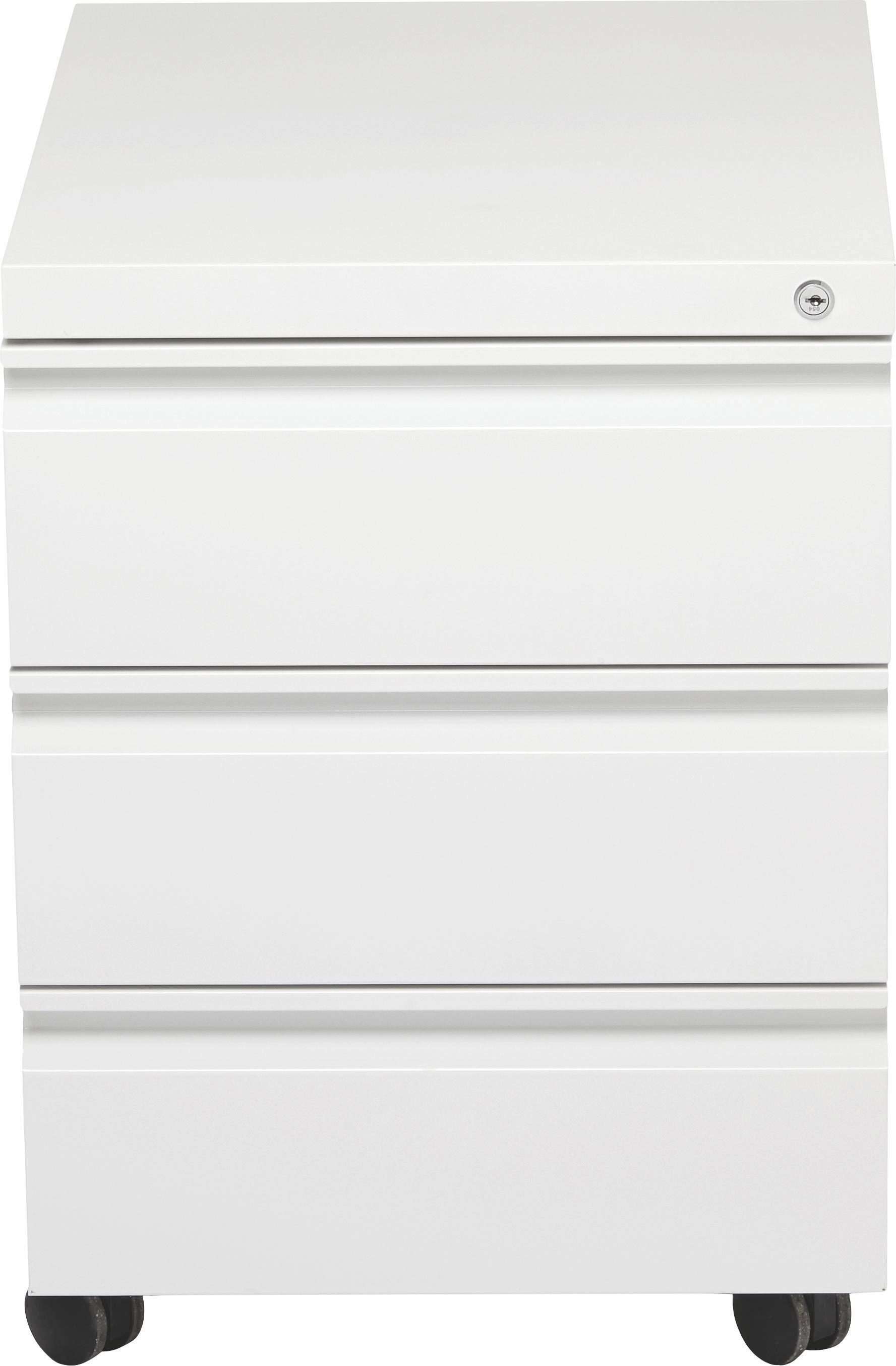 Rollcontainer in Weiß - Weiß, Kunststoff/Metall (41/57/50,3cm) - MÖMAX modern living