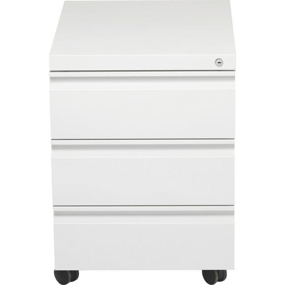 Rollcontainer Weiß - Weiß, Kunststoff/Metall (41/57/50,3cm) - Mömax modern living