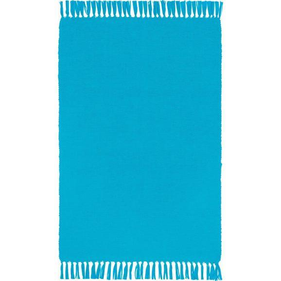 Covor Cu Franjuri Corner - verde deschis/albastru, Konventionell, textil (50/80cm) - Based