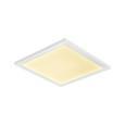 Led Mennyezeti Lámpa Ola - Opál/Fehér, Lifestyle, Műanyag/Fém (30/30/6cm) - Modern Living