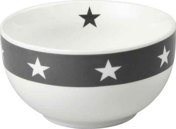 Müslischale Star in Anthrazit/Weiß - Anthrazit/Weiß, MODERN, Keramik (14/7,5cm) - Mömax modern living