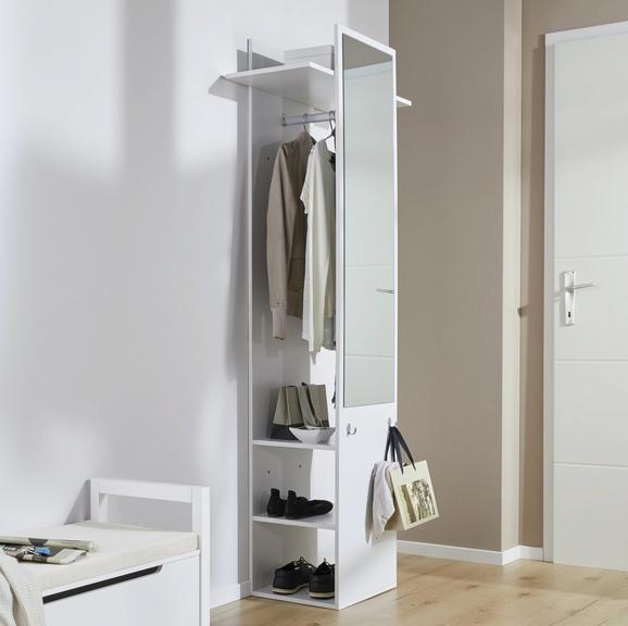 Garderobe Aldona - Weiß, MODERN, Holz (70/188/35cm) - Modern Living