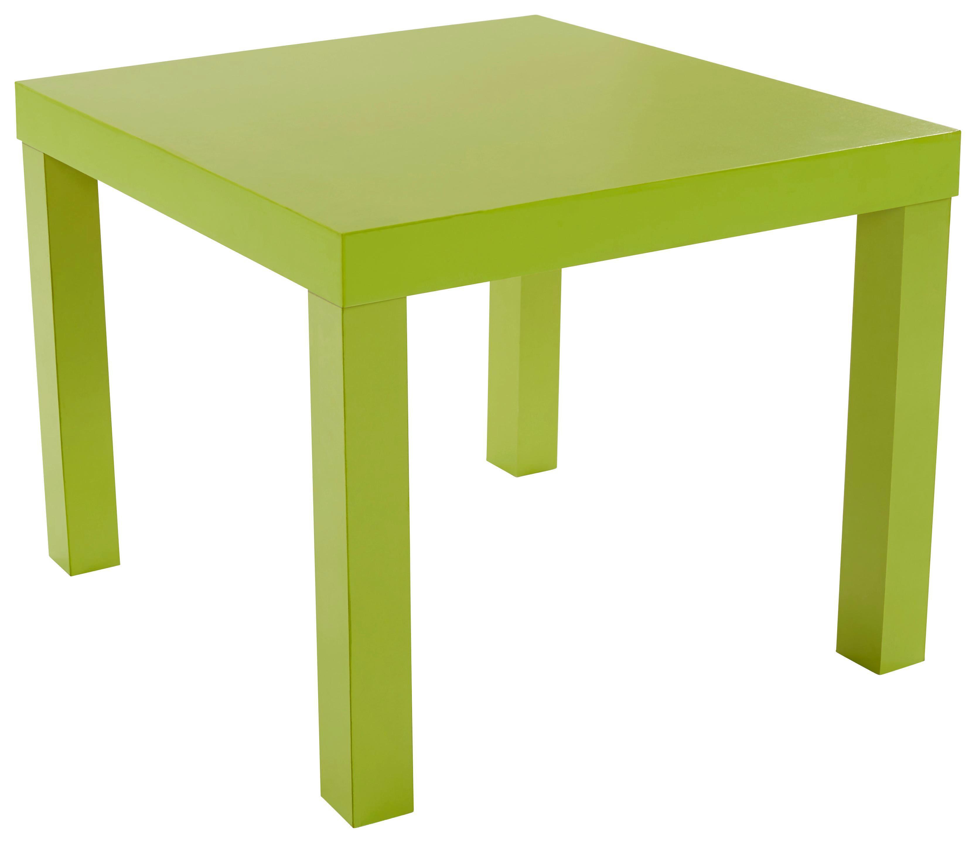 Dohányzóasztal Nora - zöld, modern, faanyagok (55/42/55cm)