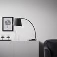 TISCHLEUCHTE max. 60 Watt 'Oskar' - Schwarz/Grau, MODERN, Kunststoff/Stein (80/30/70cm) - Bessagi Home