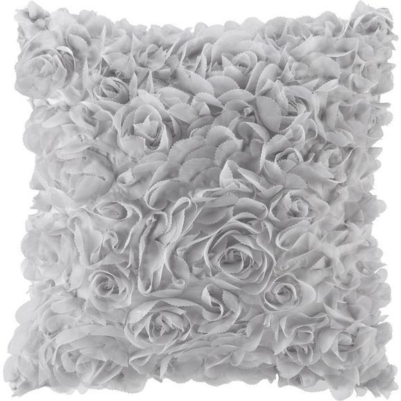 Zierkissen Rosalinde Silber ca.40x40cm - Silberfarben, ROMANTIK / LANDHAUS, Textil (40/40cm) - Mömax modern living