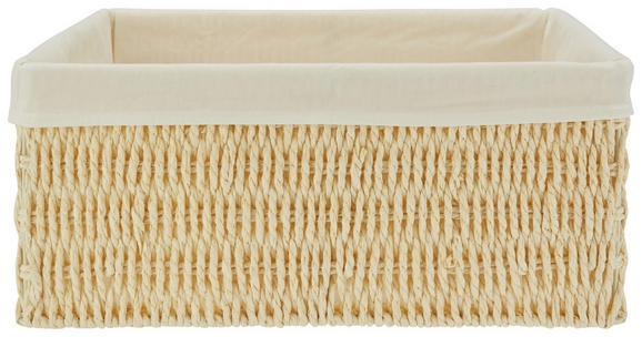 Košara Sally - M - naravna/bela, papir/tekstil (29/24/12cm) - Mömax modern living