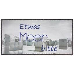 Dekoschild Mare in verschiedenen Motiven - Grau, MODERN, Metall (40/20cm)