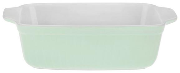 Auflaufform Pura in Grün aus Keramik - Grün, MODERN, Keramik (25,3/6,7/16,4cm)