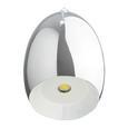 Pendelleuchte Leonita mit LED - Chromfarben, MODERN, Metall (7,5/7,5/120cm) - Bessagi Home