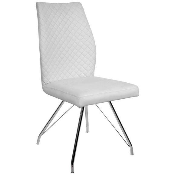 Stuhl in Weiß - Chromfarben/Weiß, MODERN, Textil/Metall (45,5/96/60cm) - Mömax modern living