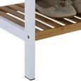 Schuhregal Weiß/Naturfarben - Naturfarben/Weiß, MODERN, Holz/Holzwerkstoff (70/59/30cm) - Mömax modern living