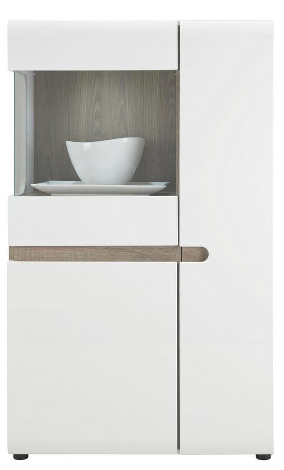 Vitrina Linate - bela/hrast tartuf, Moderno (85/143/42cm) - Mömax modern living