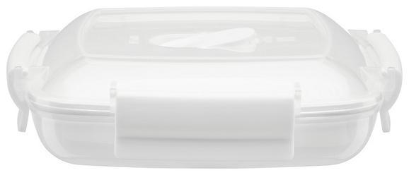 Mikrowellendose Mikka in Weiß, ca. 440ml - Transparent/Weiß, Kunststoff (0,44l) - Mömax modern living