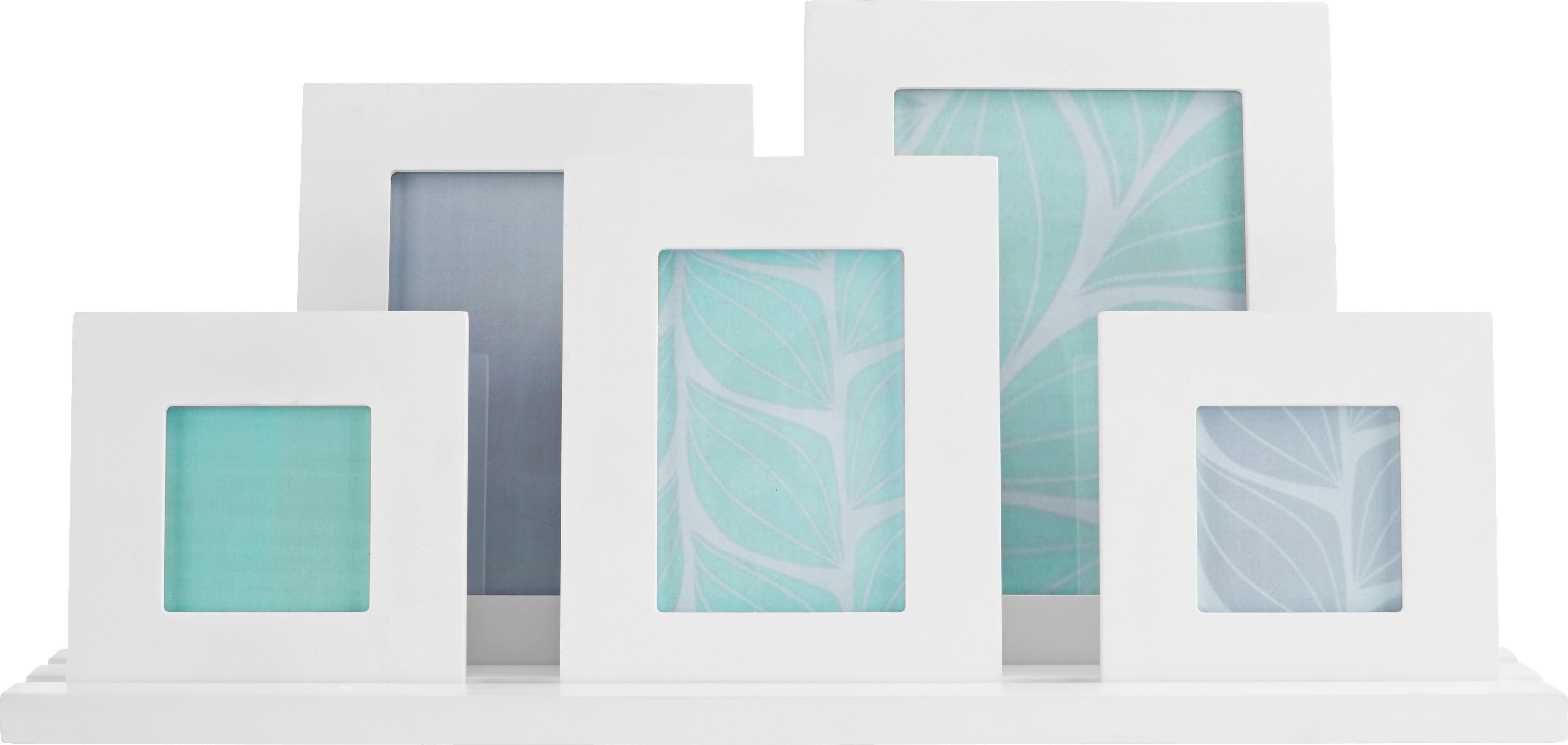 Képkeret Maren - fehér, modern, üveg/fa (48/23/10cm) - MÖMAX modern living