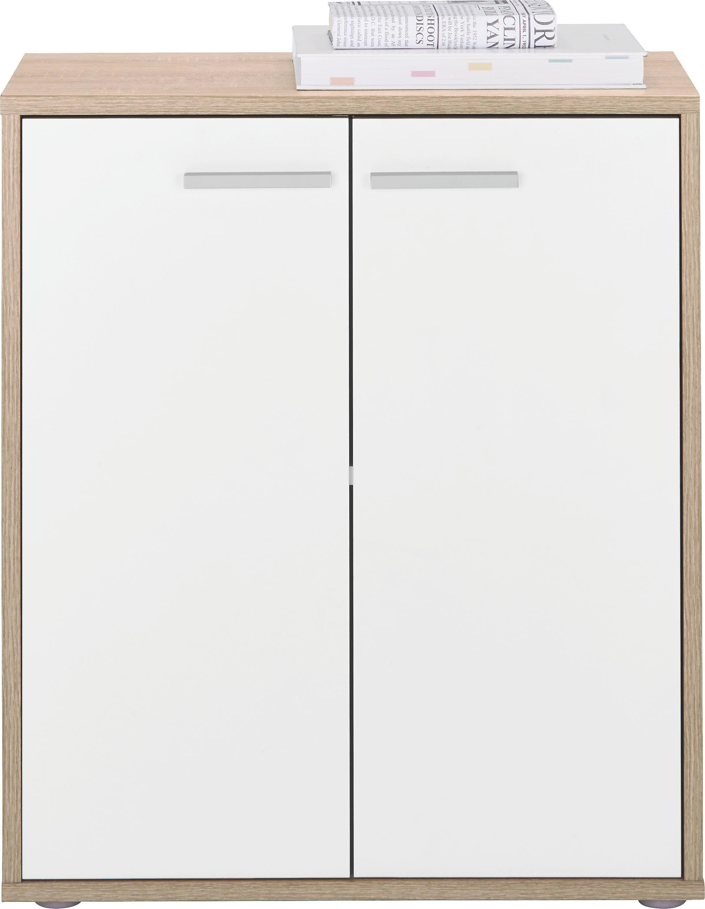 Kommode in Sonoma/Weiß - Weiß/Sonoma Eiche, Holzwerkstoff (60/70/30cm) - MÖMAX modern living
