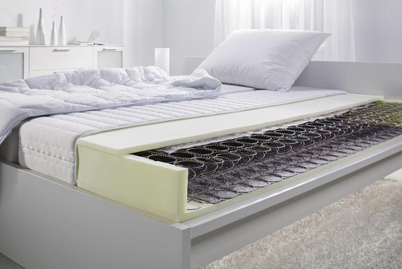 Federkernmatratze Bonellfederkern ca. 90x200cm - Weiß, KONVENTIONELL, Textil (90/200cm) - NADANA