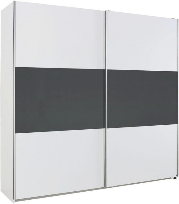 Schwebetürenschrank Schwarz/Weiß - Schwarz/Weiß, Holzwerkstoff (218/210/59cm) - Based