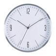 Stenska Ura Jesper - srebrna, Moderno, kovina/steklo (30,5/30,5/4cm) - Mömax modern living
