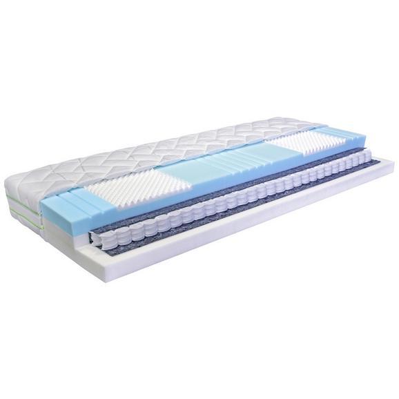 Vzmetnica 140x200 Cm Premium Ergo Seven+ - modra/bela, Moderno, tekstil (140/200cm) - Nadana