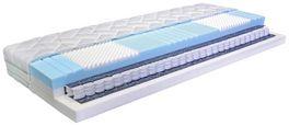 Vzmetnica 160x200 Cm Premium Ergo Seven+ - modra/bela, Moderno, tekstil (160/200cm) - Nadana