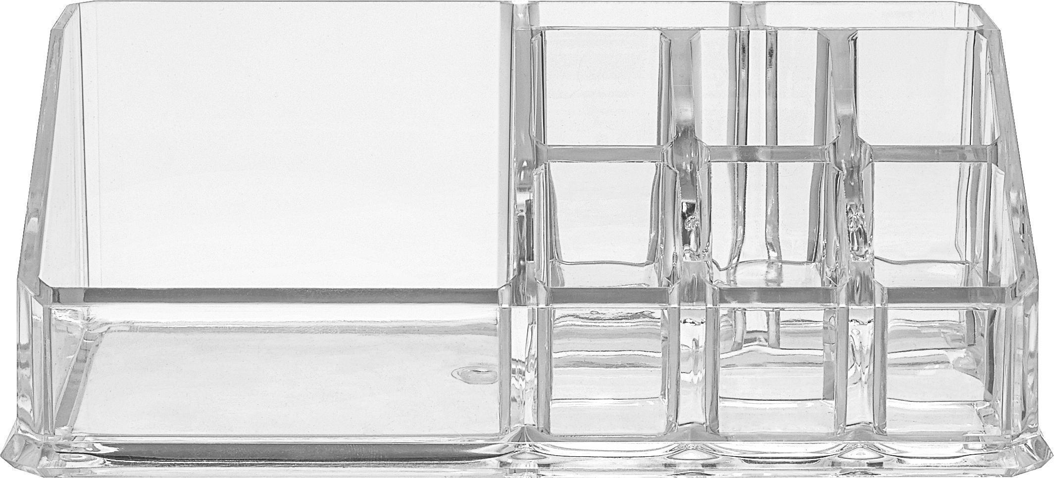 Kozmetikai Rendszerező Sila - áttetsző, műanyag (17/6/9cm) - MÖMAX modern living