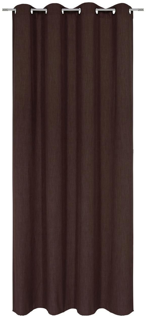 Ösenvorhang Ulli Braun ca. 140x245cm - Braun, Textil (140/245cm) - Mömax modern living