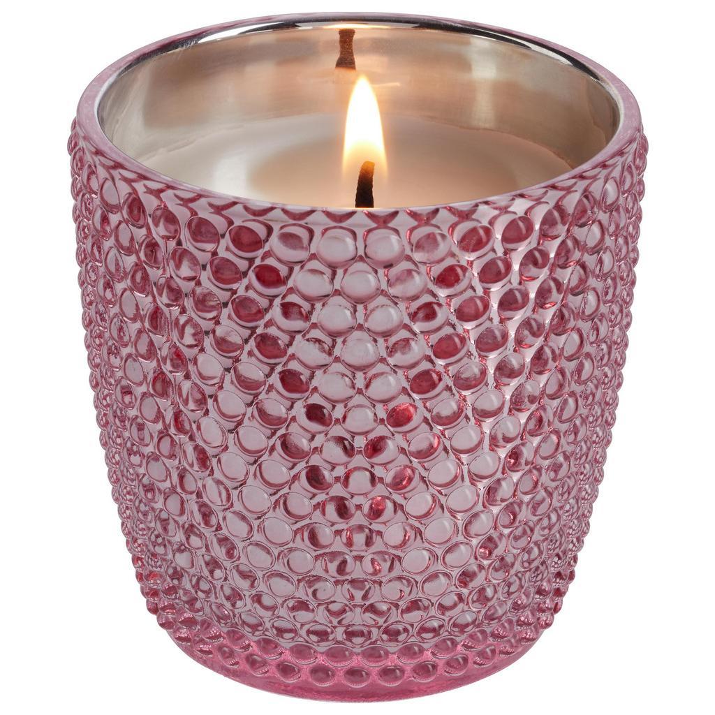 Kerze im Glas Rose in Pink Ø ca. 7cm