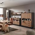 Schwingstuhl in Braun - Edelstahlfarben/Braun, MODERN, Textil/Metall (45/102/63cm) - Premium Living