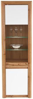 Vitrina Kashmir New - črna/bela, Moderno, steklo/leseni material (57/192/41cm) - Zandiara