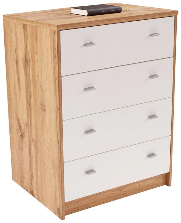 Komoda 4-you New Yuk06 - črna/bela, Moderno, leseni material (74/85,4/44,5cm)