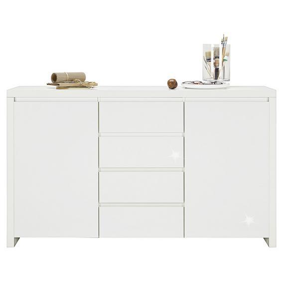 Servantă Lario - alb, Modern, compozit lemnos (164/96,4/40cm)