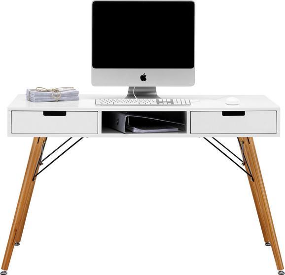 Schreibtisch Weiß/Braun Pinienholz - Braun/Weiß, LIFESTYLE, Holz/Metall (120/74/55cm) - Mömax modern living