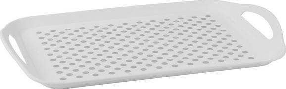 Serviertablett Ruth in Weiß/Grau - Weiß/Grau, Kunststoff (46/32,5/4,5cm) - MÖMAX modern living