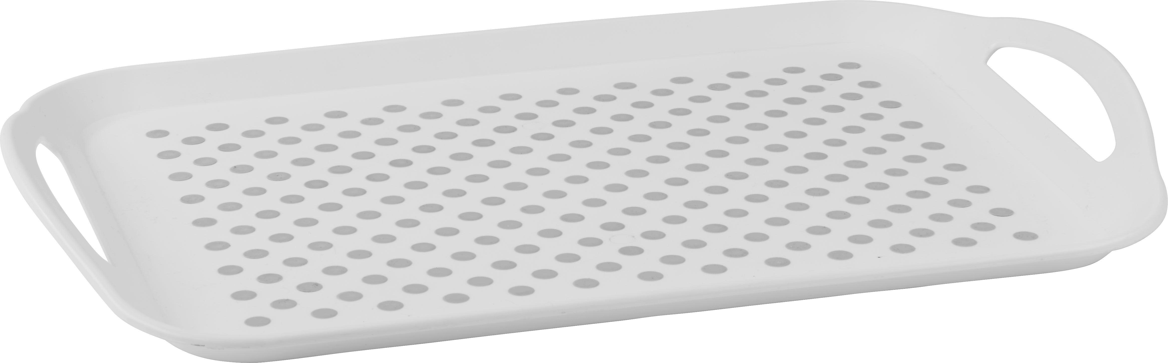 Szervírozó Tálca Ruth - fehér/szürke, műanyag (46/32,5/4,5cm) - MÖMAX modern living