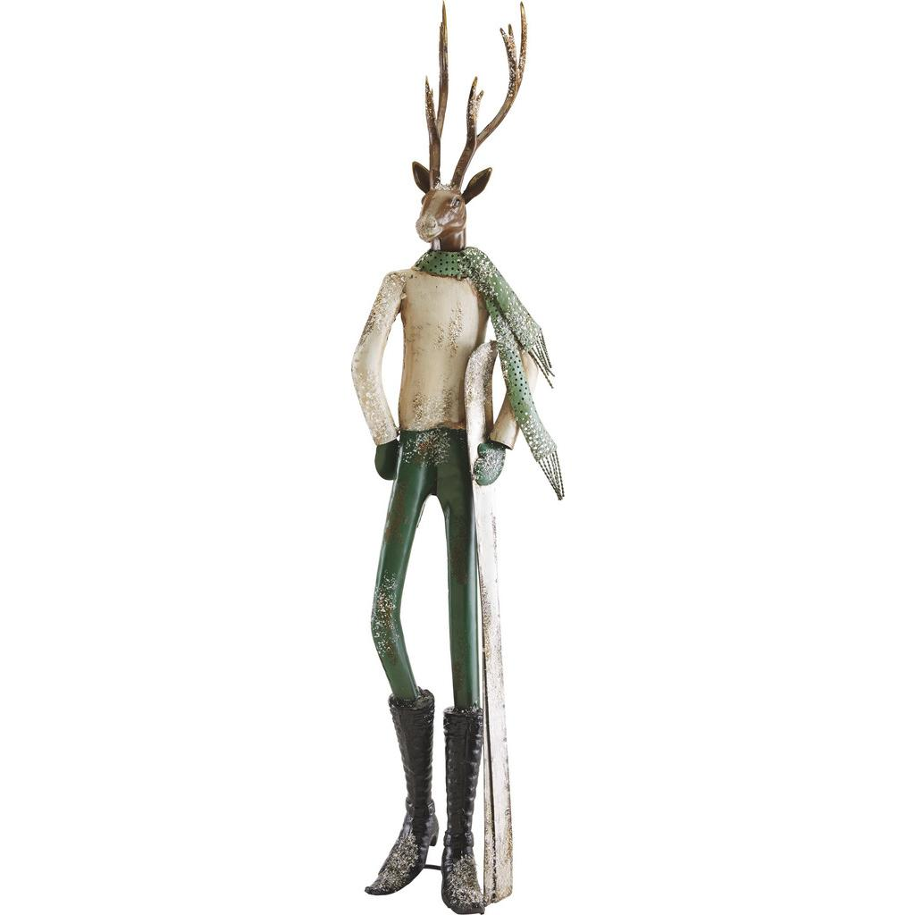 Dekohirsch in Multicolor H ca. 87,5 cm 'Skilehrer'