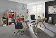 Schreibtisch Graphitfarben - Eichefarben/Graphitfarben, MODERN, Holzwerkstoff (140/75/70cm) - Mömax modern living