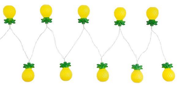 Lichterkette Birthday aus Kunststoff - Klar/Gelb, Kunststoff (195cm)