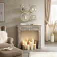 Raft De Perete Allegra - alb, Romantik / Landhaus, sticlă/compozit lemnos (74/74/15cm) - Modern Living