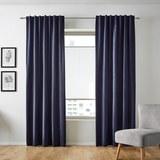 Samtvorhang Smilla ca.135x245cm - Blau, Textil (135/245cm) - Mömax modern living