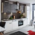 Küchenblock Flash/Colorconcept Grau/Weiß - Weiß/Grau (290cm) - Nobilia