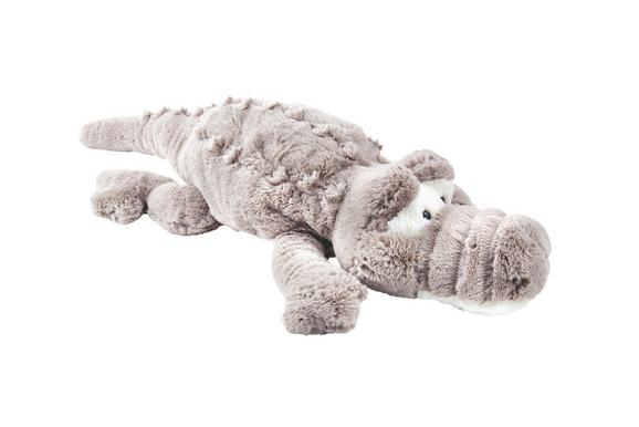 Plüschtier Krokodil Creme/taupe - Taupe/Creme, Textil (85cm) - Mömax modern living