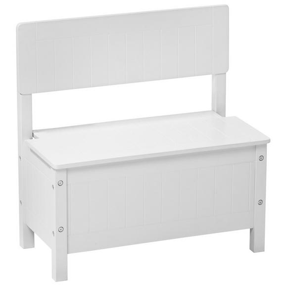 truhenbank in wei aus echtholz online kaufen m max. Black Bedroom Furniture Sets. Home Design Ideas