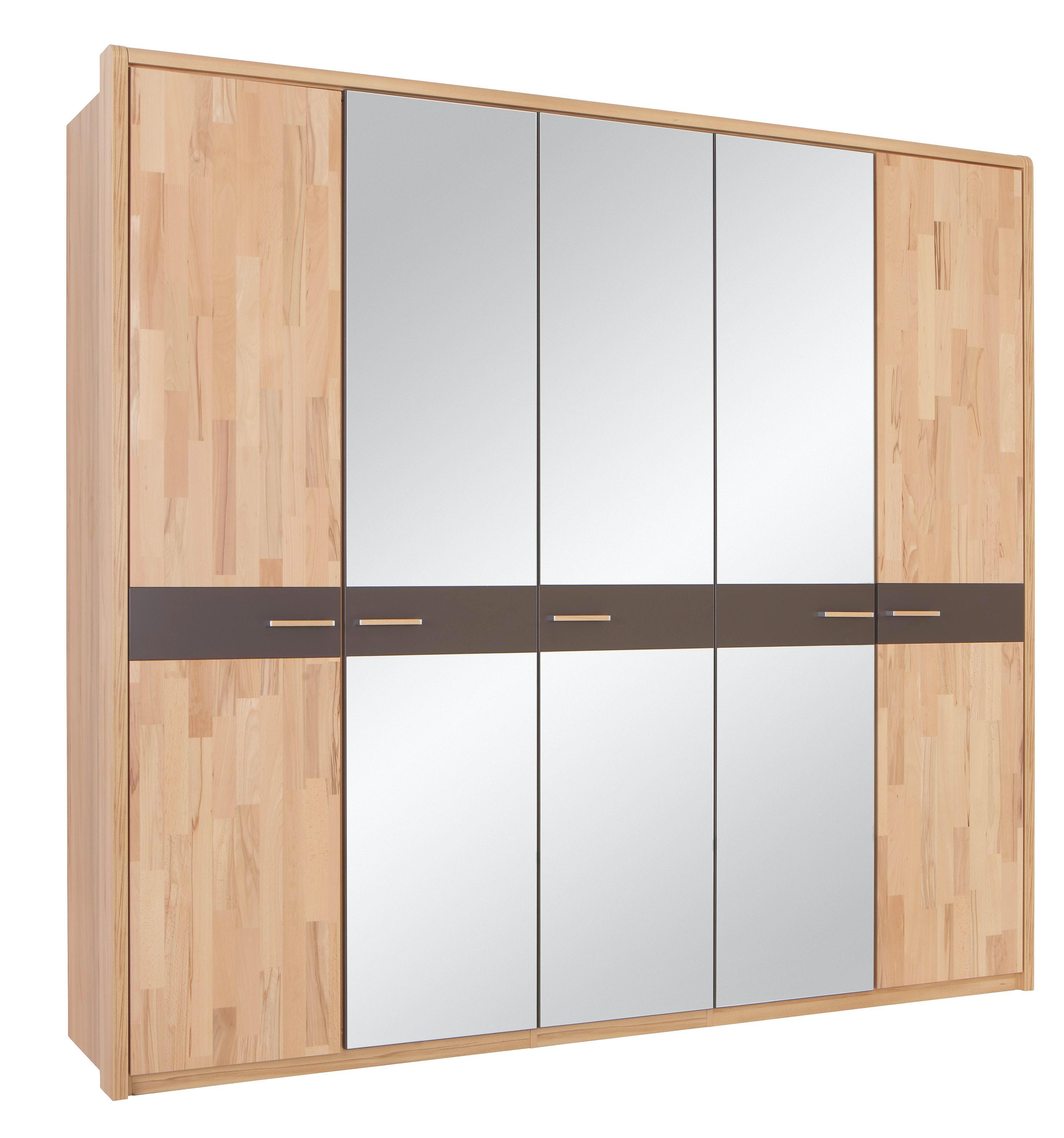 Kleiderschrank in Buche aus Echtholz - MODERN, Holz/Holzwerkstoff (235/214/58cm) - ZANDIARA