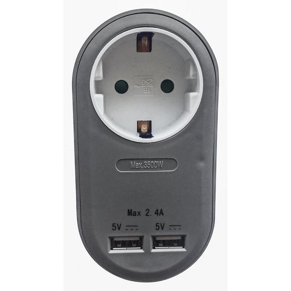 Adapter Amir - umetna masa (10,8/5,6/7,22cm) - Mömax modern living