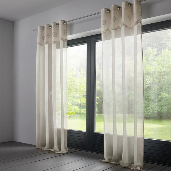 Baumwollvorhang Amalie 140x245cm - Naturfarben, ROMANTIK / LANDHAUS, Textil (140/245cm) - MÖMAX modern living