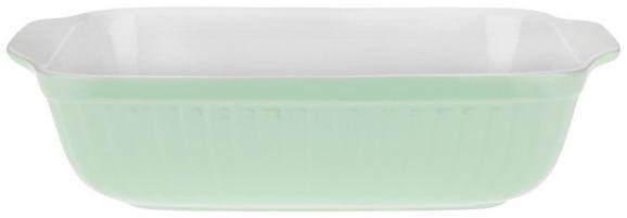 Auflaufform Pura in Grün aus Keramik - Grün, MODERN, Keramik (32,4/7,2/24cm)