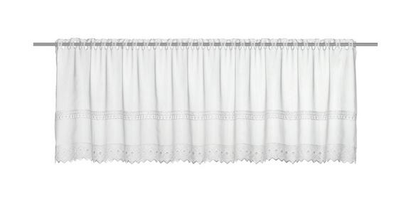 Kratka Zavesa Pia - bela, Romantika, tekstil (150/47cm) - Mömax modern living